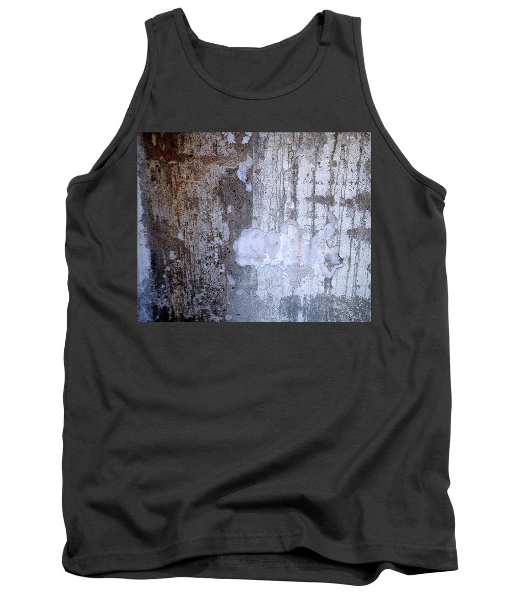 Industrial. Urban Tank Top featuring the photograph Abstract Concrete 8 by Anita Burgermeister