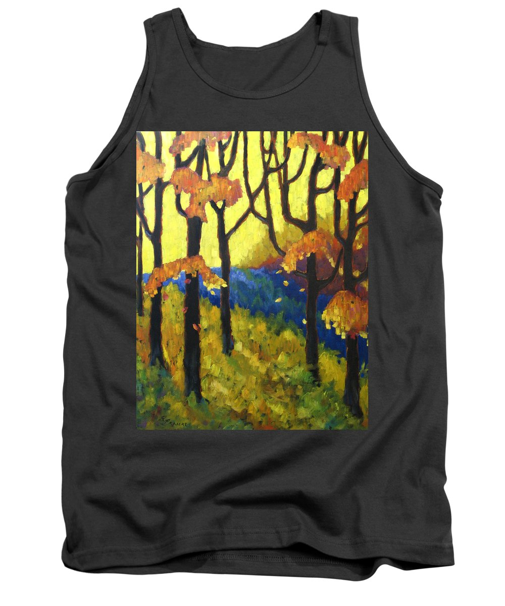 Art Tank Top featuring the painting Abstract Forest by Richard T Pranke