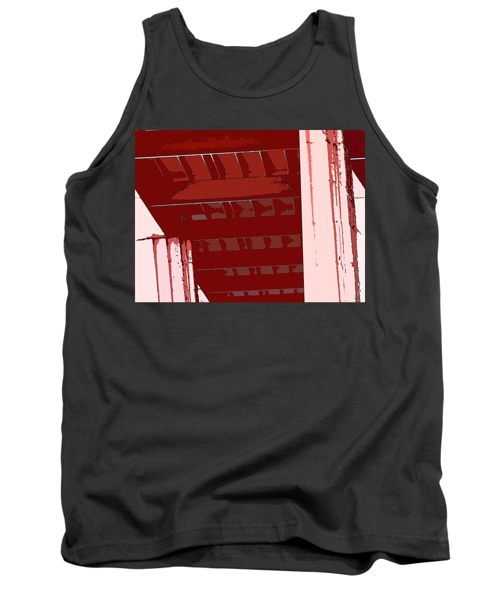 Abstract Tank Top featuring the digital art Abstract Found At Albertson's by Lenore Senior