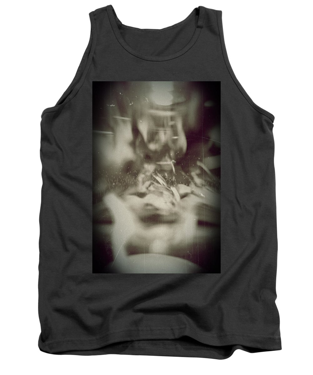 Abstract Tank Top featuring the photograph Abstract Glass by Scott Wyatt
