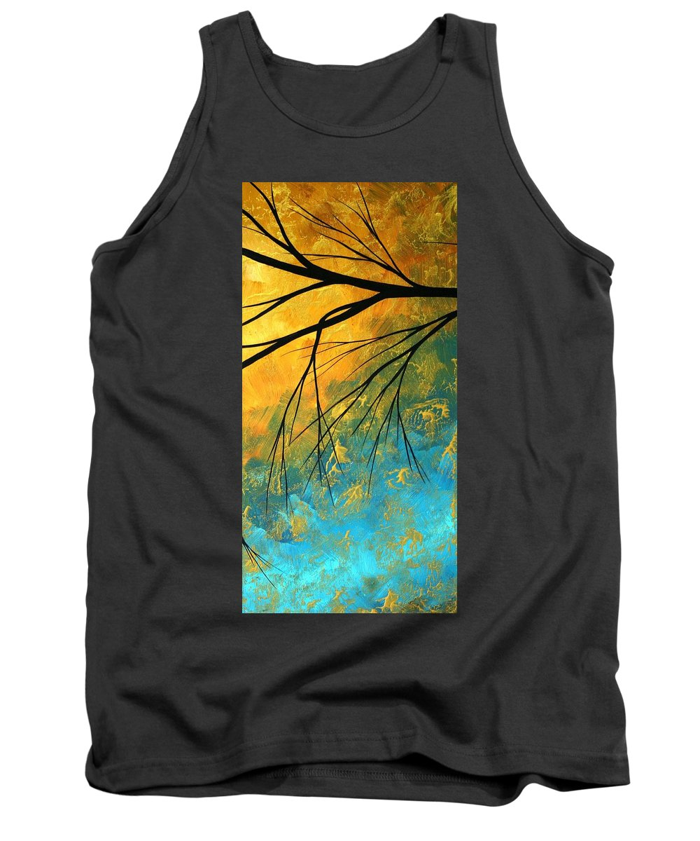 Abstract Tank Top featuring the painting Abstract Landscape Art Passing Beauty 2 Of 5 by Megan Duncanson