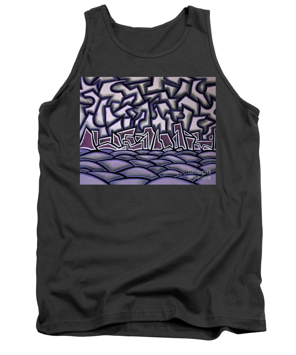 Landscape Tank Top featuring the painting Abstract Landscape by Thomas Valentine
