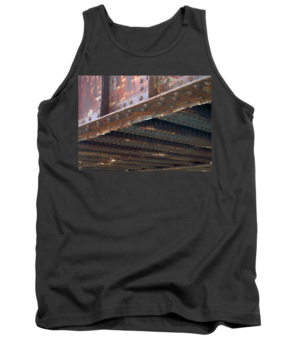 Urban Tank Top featuring the photograph Abstract Rust 4 by Anita Burgermeister