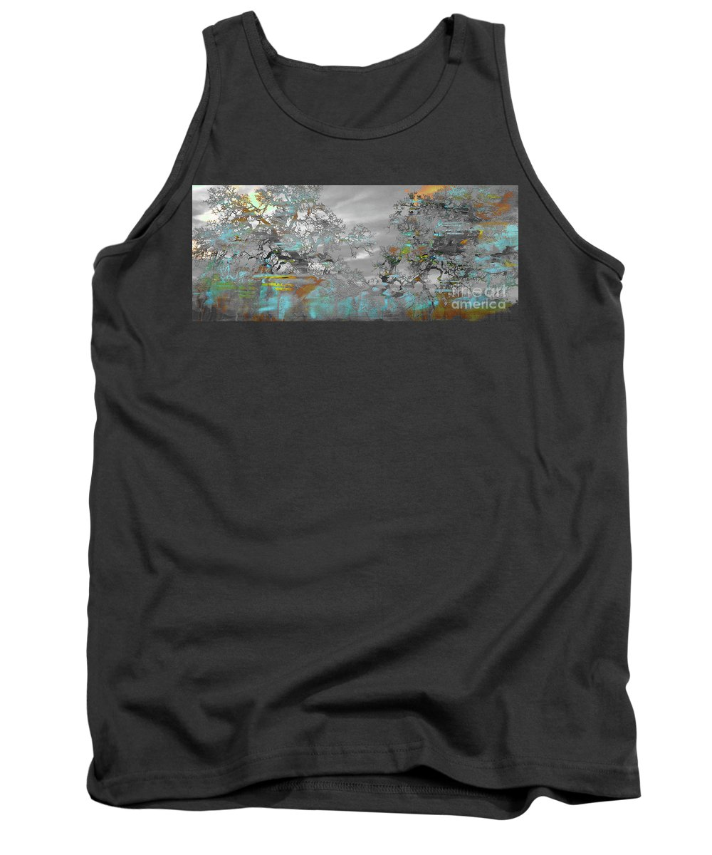 Painting Tank Top featuring the painting Abstract Tree Art 1 by Gull G
