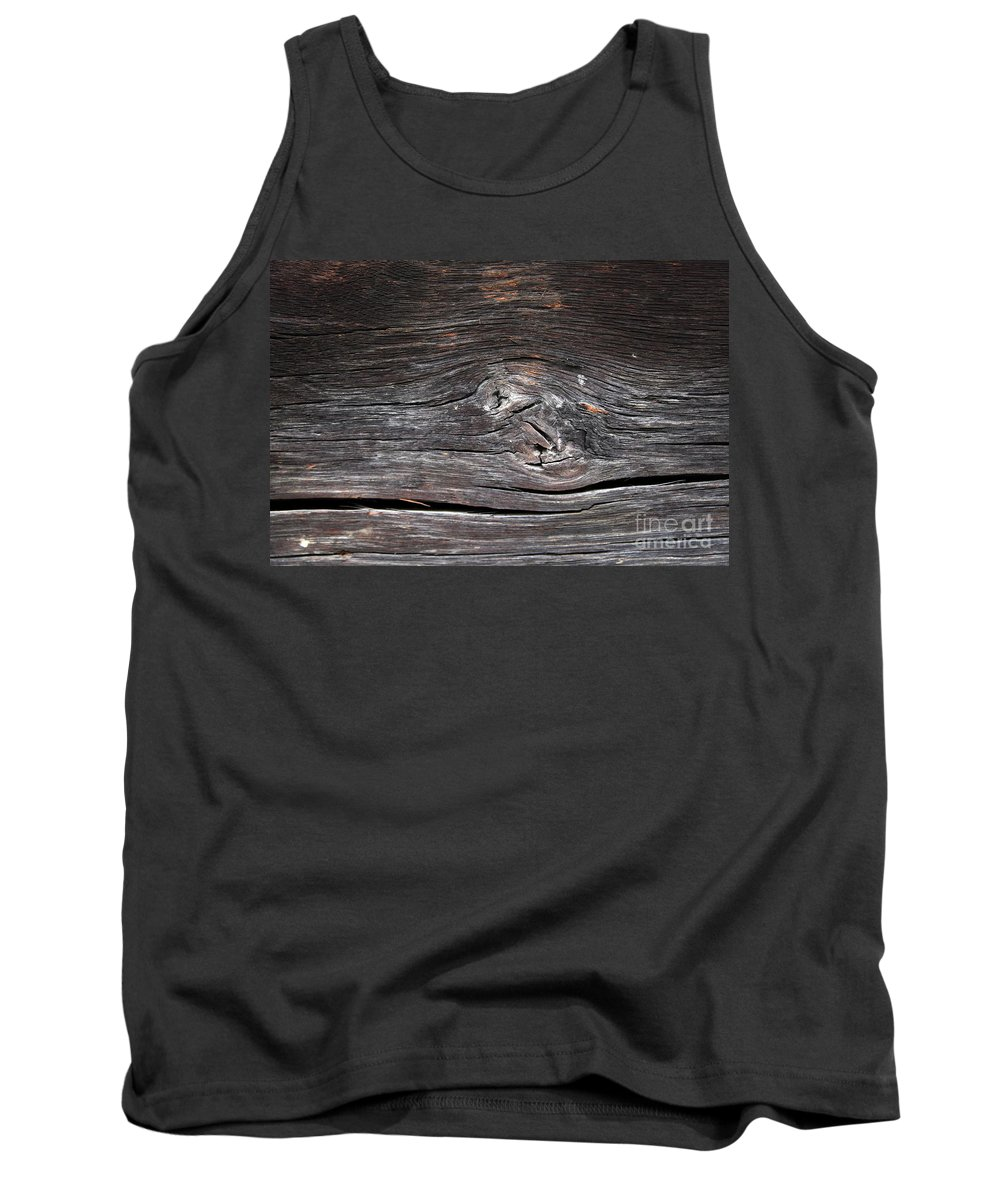 Retro Styled Tank Top featuring the photograph Abstract Wood Background by Vladi Alon