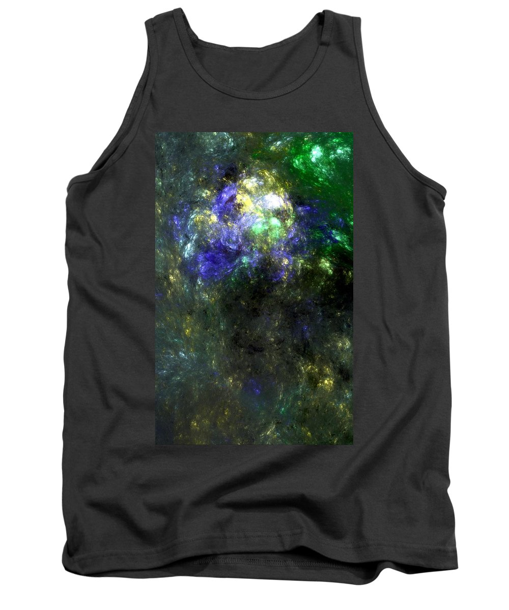 Abstract Expressionism Tank Top featuring the digital art Abstract08-14-09 by David Lane