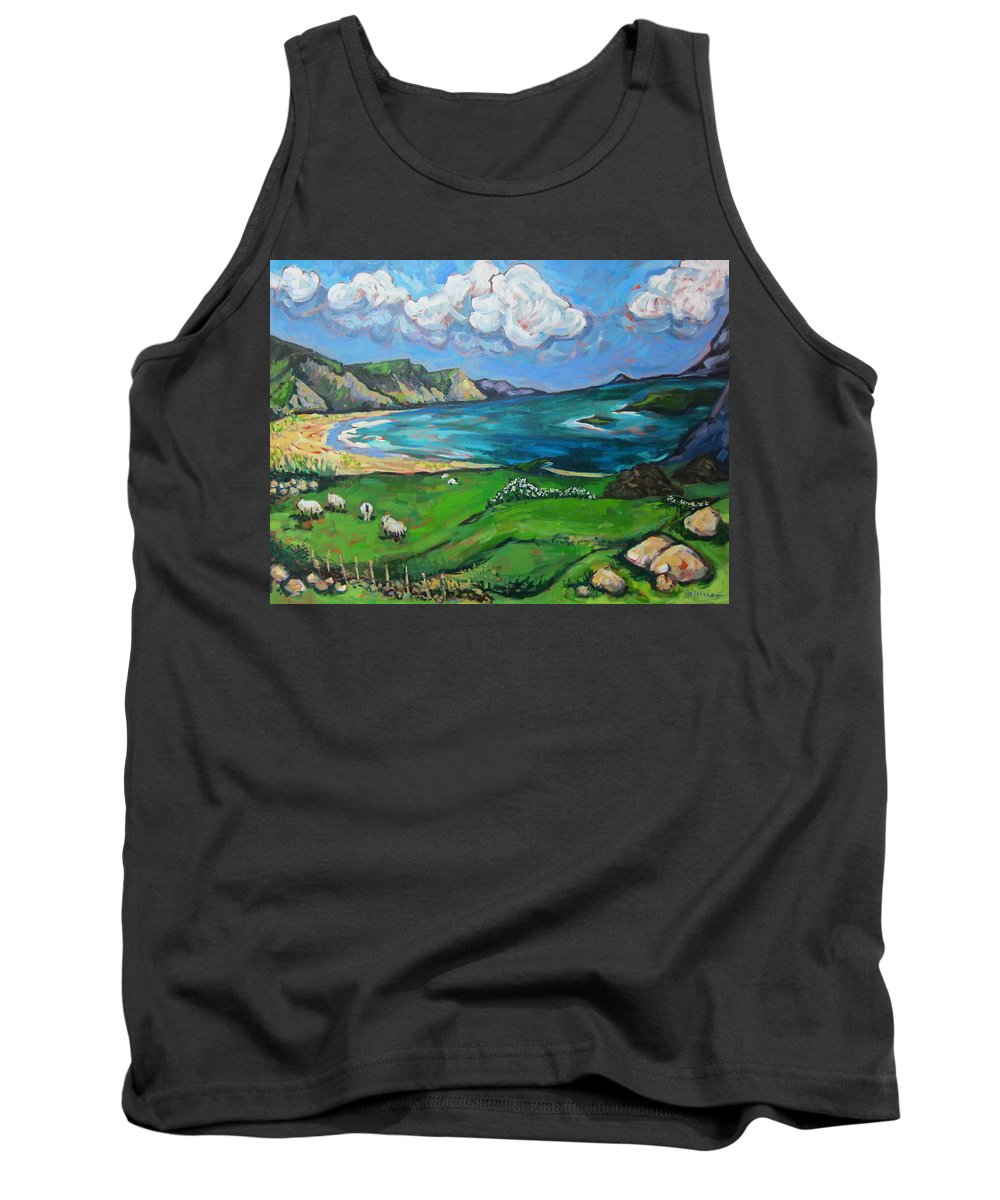Ireland Tank Top featuring the painting Achill Island by Annie Scheumbauer