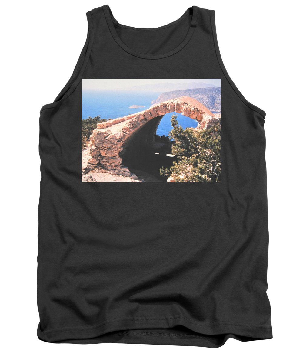 Greece Tank Top featuring the photograph Across To Turkey by Ian MacDonald