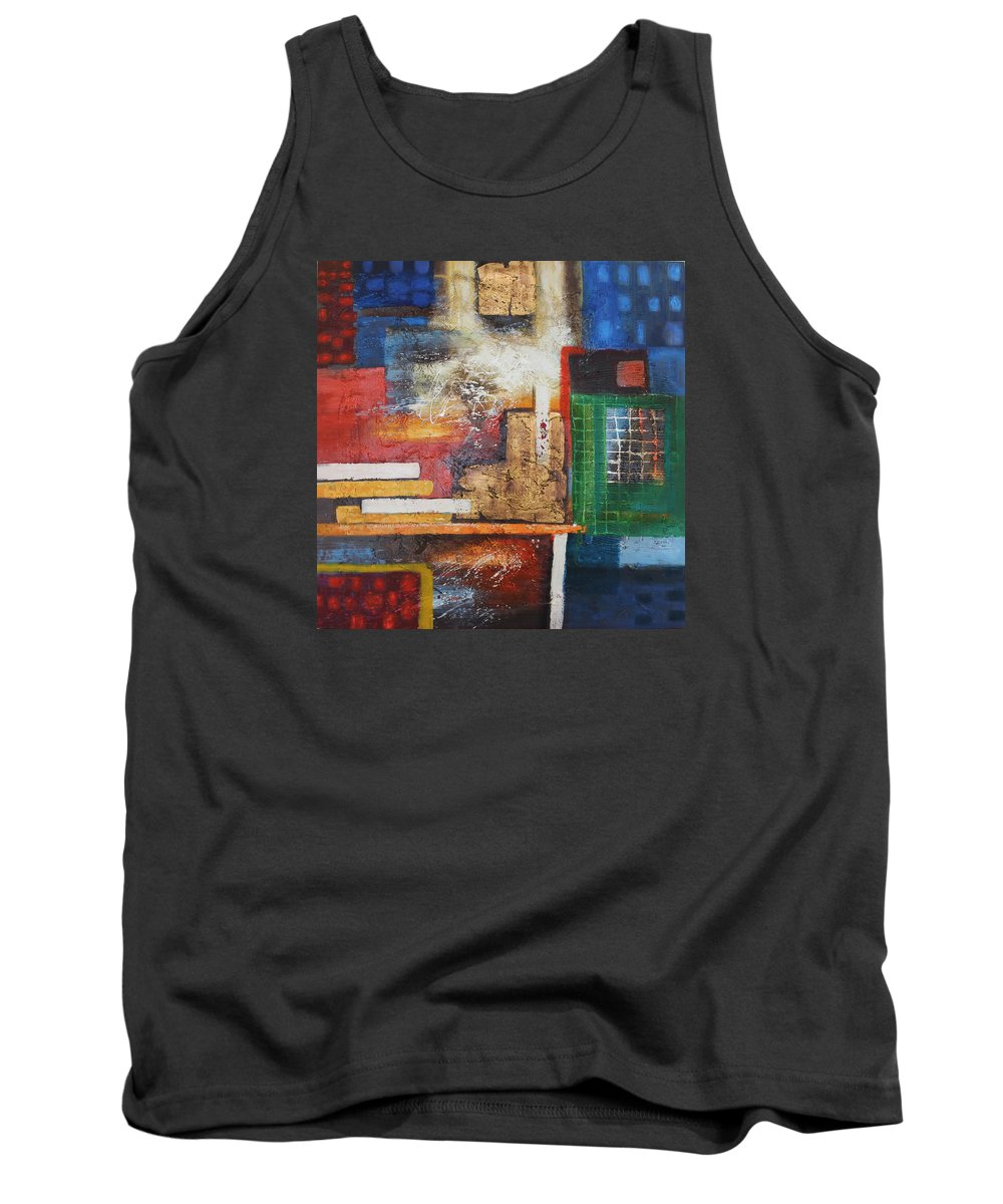 Originals Tank Top featuring the painting Acrylic Msc 166 by Mario Sergio Calzi