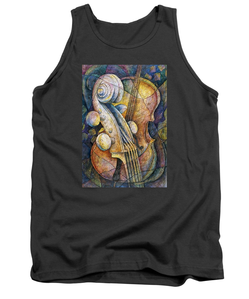 Susanne Clark Tank Top featuring the painting Adam's Cello by Susanne Clark