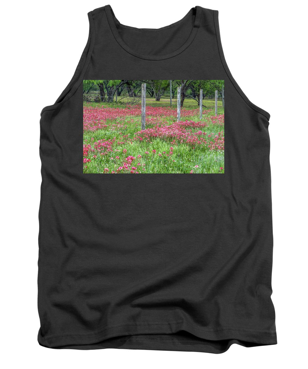 Texas Tank Top featuring the photograph Adding A Splash Of Color-indian Paintbrush In Texas by Usha Peddamatham