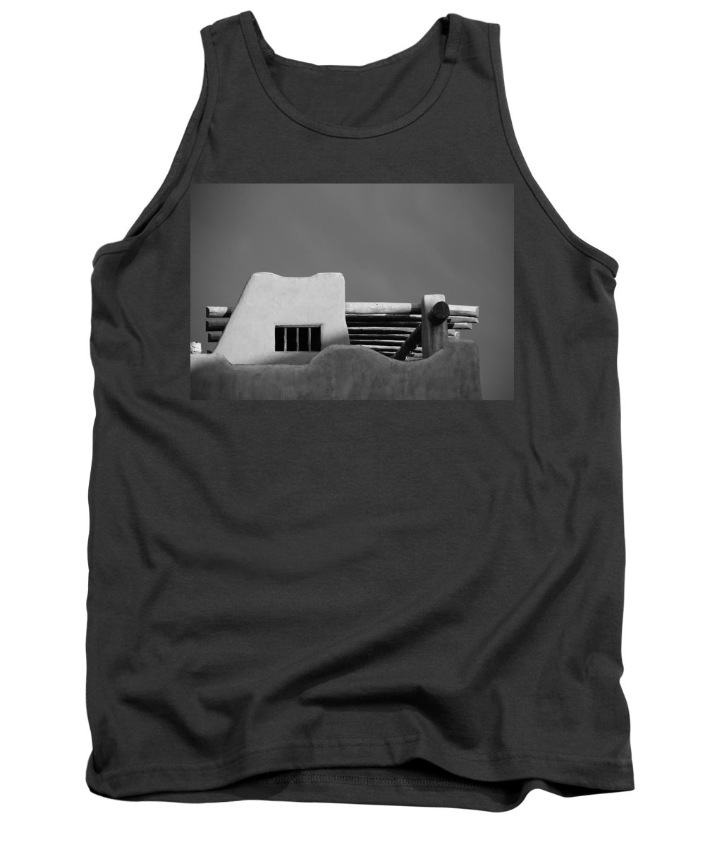 Architecture Tank Top featuring the photograph Adobe Turrett by Rob Hans