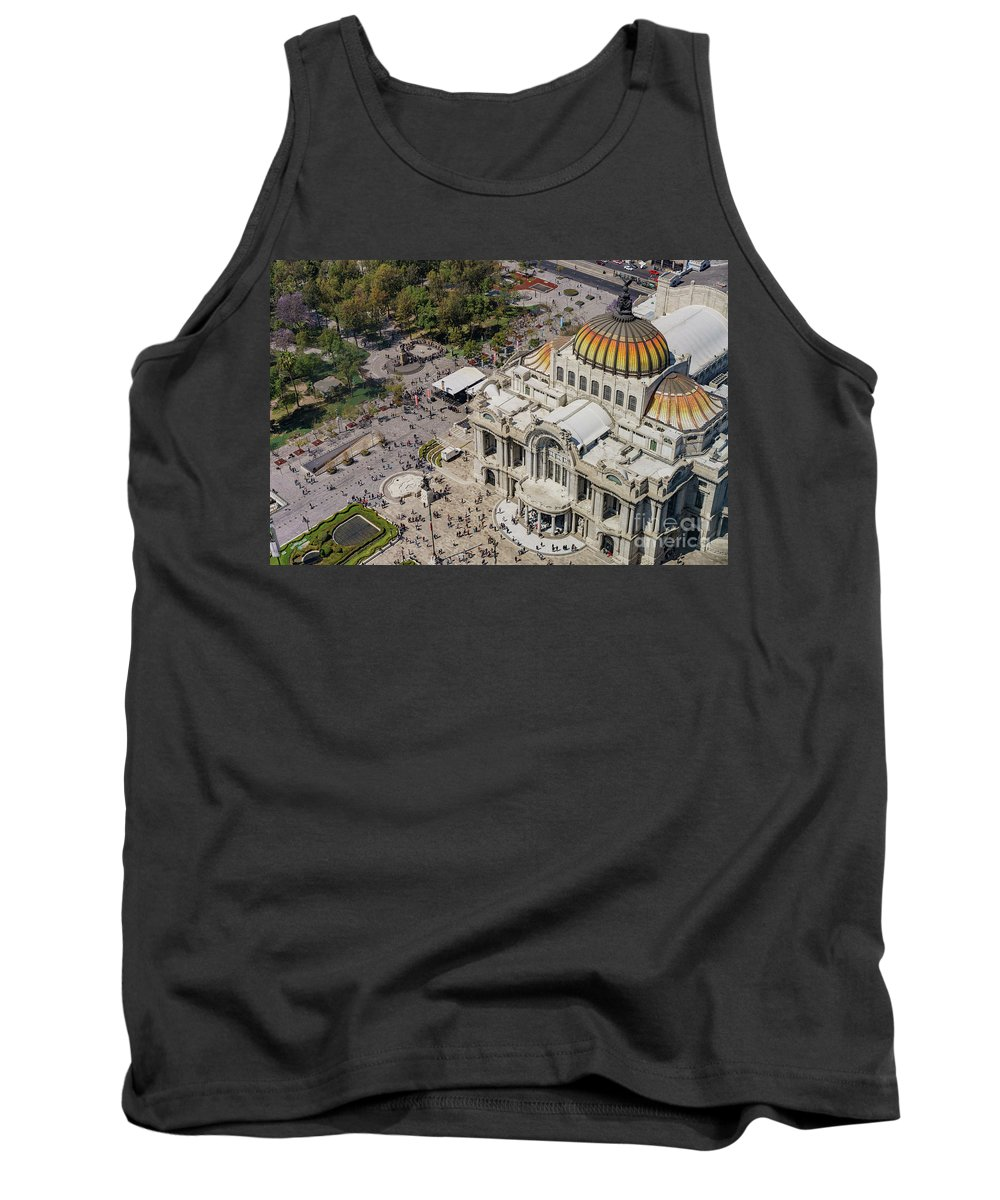 Central Alameda Park Tank Top featuring the photograph Aerial View Of The Palace Of Fine Arts by Chon Kit Leong