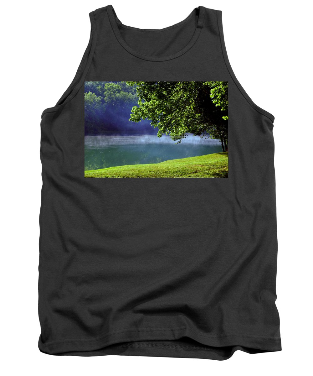 Fog Tank Top featuring the photograph After A Warm Summer Rain by Susanne Van Hulst