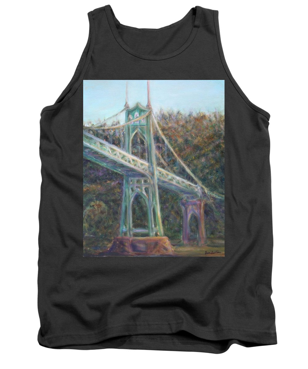 Quin Sweetman Tank Top featuring the painting Afternoon Glow On The St Johns by Quin Sweetman