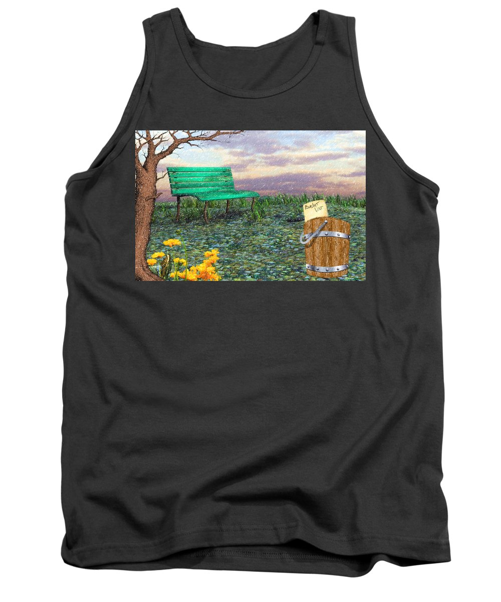 Afternoon Snooze Tank Top featuring the digital art Afternoon Snooze by L Wright