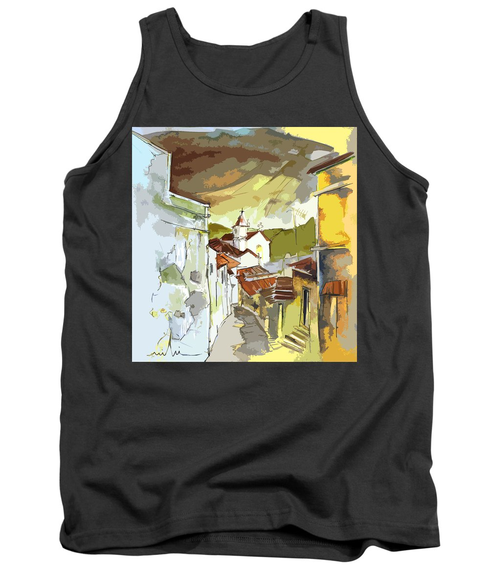 Portugal Paintings Tank Top featuring the painting Alcoutim Portugal 06 Bis by Miki De Goodaboom