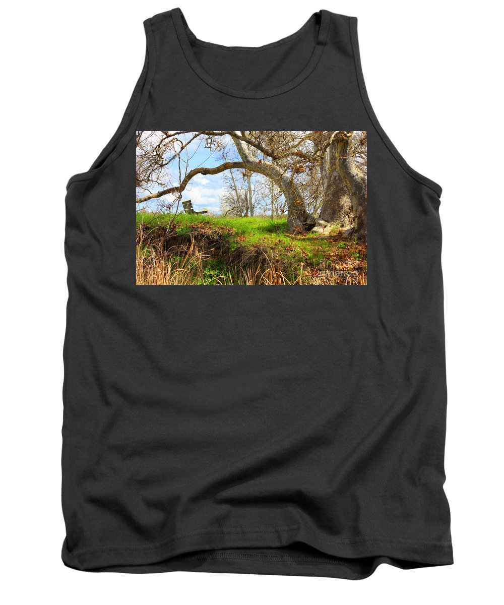 Spring Landscape Tank Top featuring the photograph Alice's Wonderland by Carol Groenen