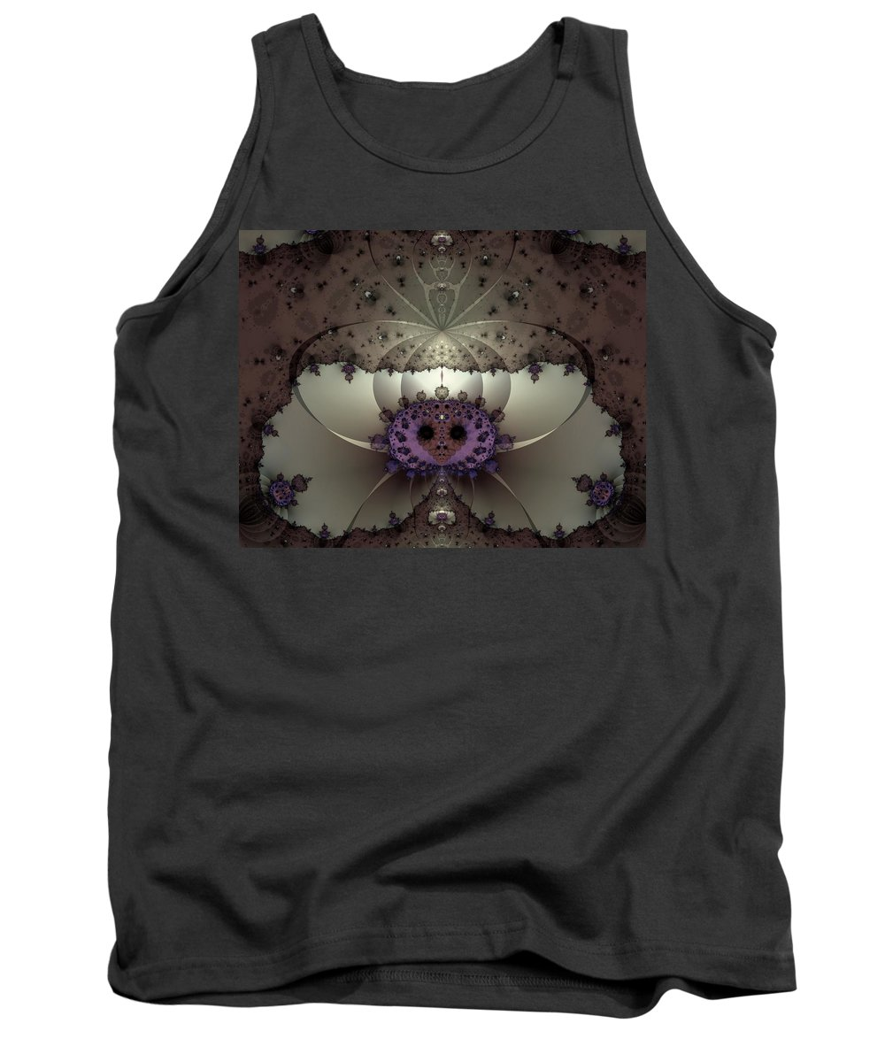 Abstract Tank Top featuring the digital art Alien Exotica by Casey Kotas