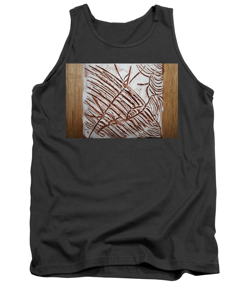 Jesus Tank Top featuring the ceramic art Aligned - Tile by Gloria Ssali