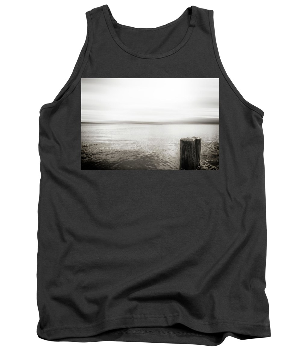 Usa Tank Top featuring the photograph Alki Piling by Savanah Plank