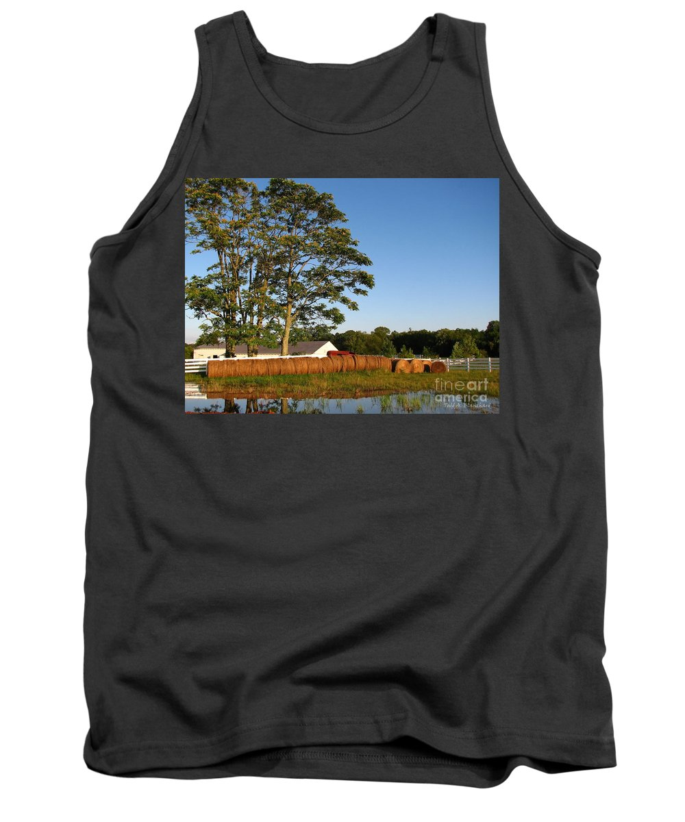 Landscape Tank Top featuring the photograph All In A Row by Todd Blanchard