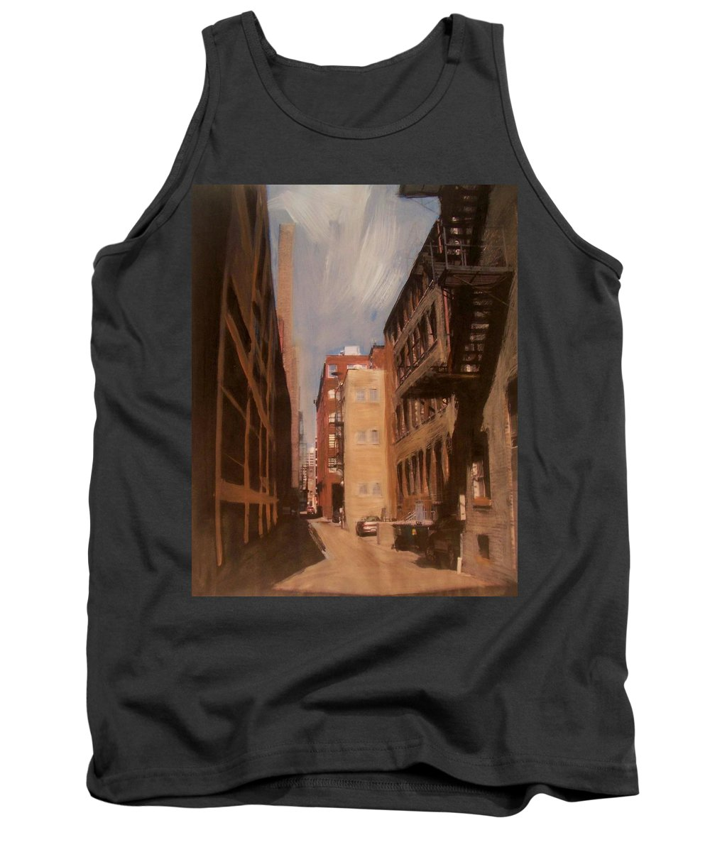 Alley Tank Top featuring the mixed media Alley Series 1 by Anita Burgermeister