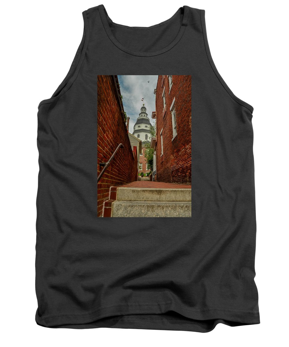Alley Tank Top featuring the photograph Alley View by Robert Coffey
