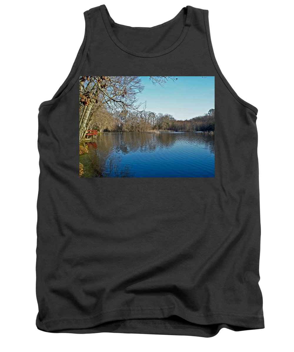alloway Lake Tank Top featuring the photograph Alloway Lake - New Jersey - Usa by Mother Nature