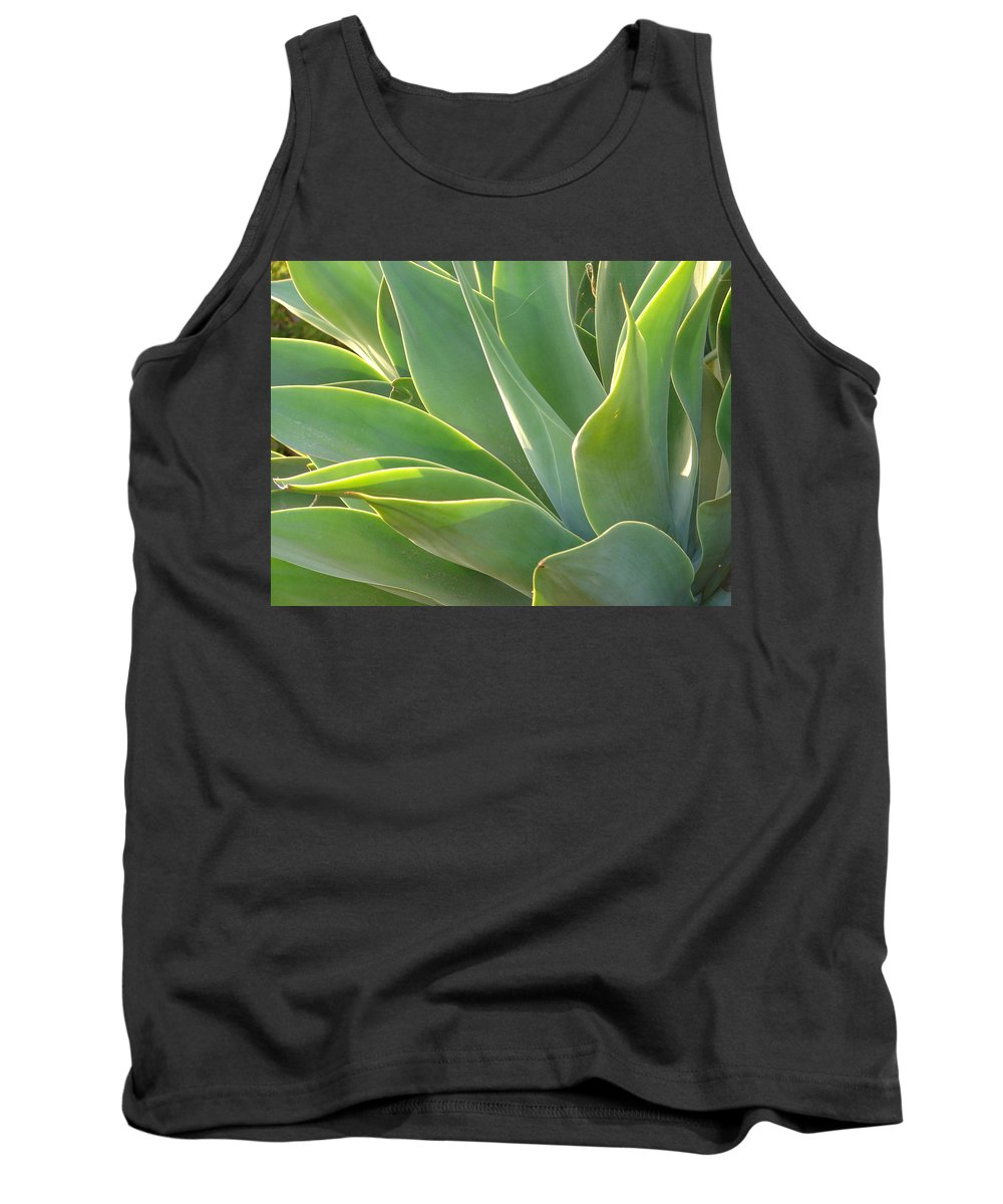 Abstract Art Tank Top featuring the photograph Aloe by Lois Boyce