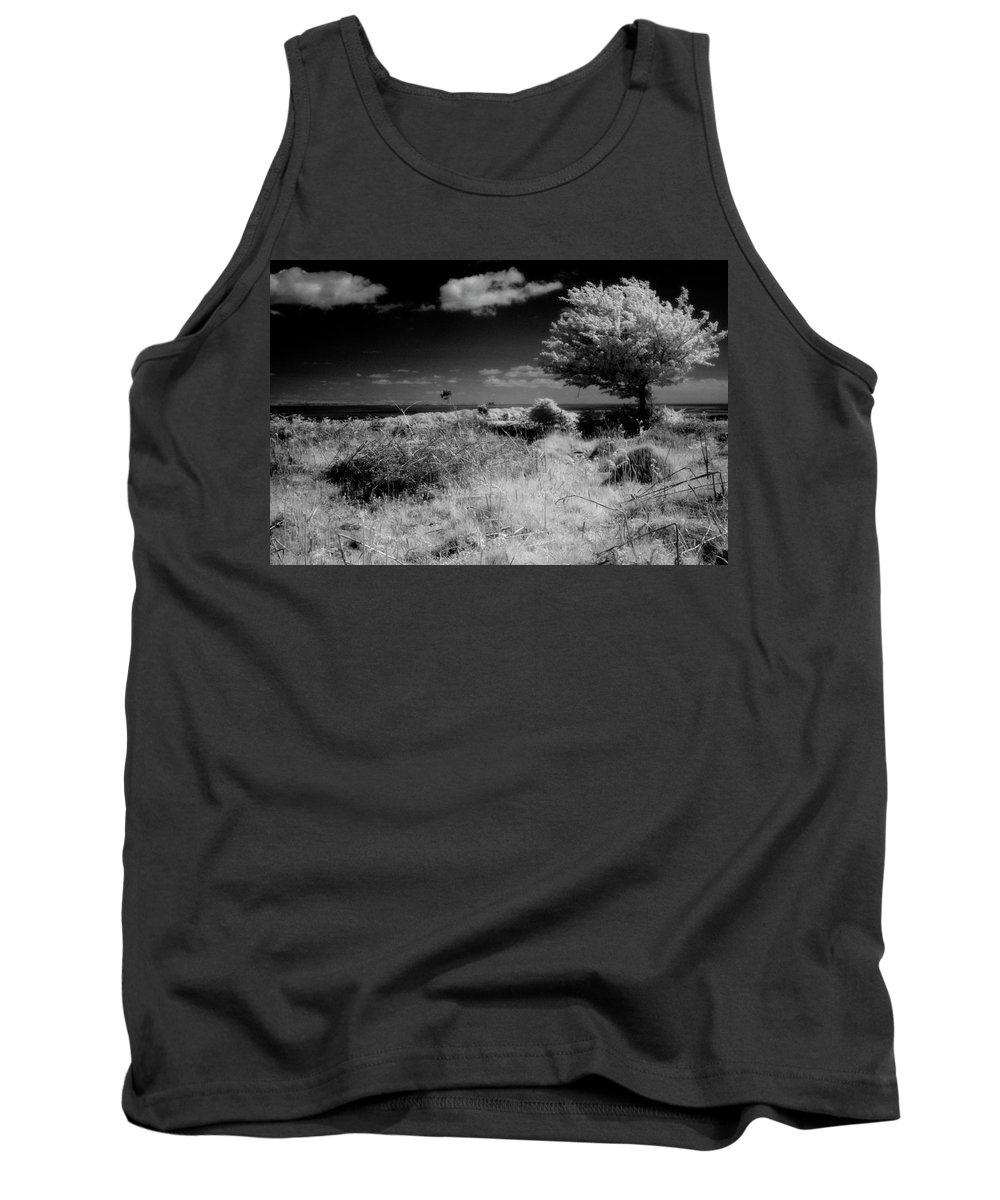 Infrared Tank Top featuring the photograph Alone by Keith Elliott