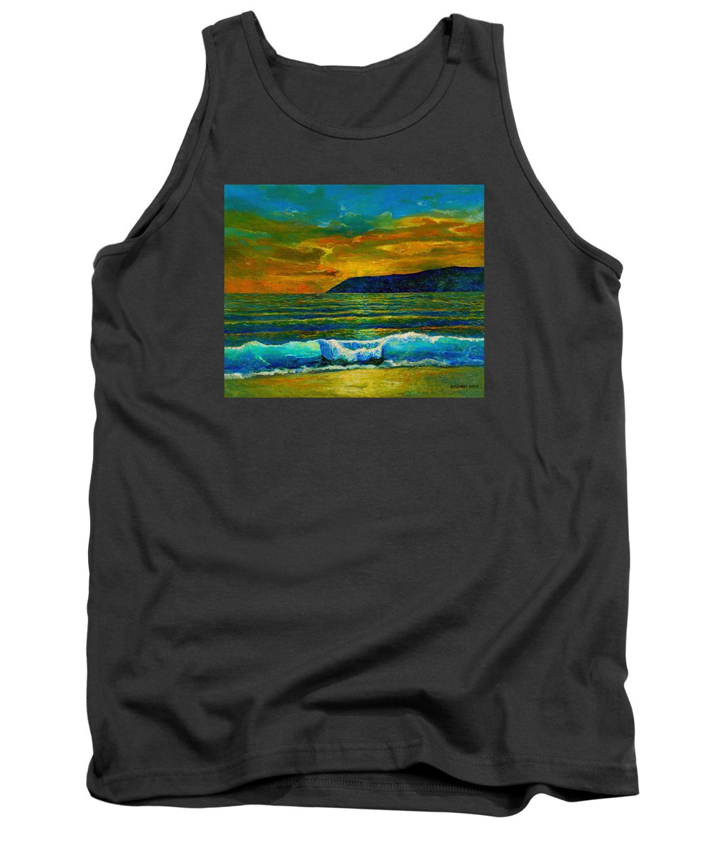 Seascape Tank Top featuring the painting Along The African Coast by Michael Durst