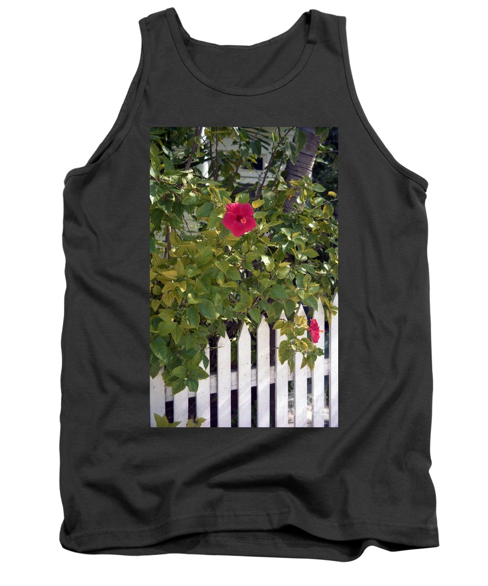 Azelea Tank Top featuring the photograph Along The Picket Fence by Richard Rizzo