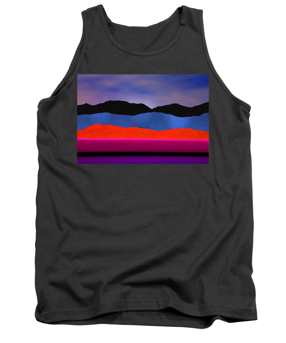 Abstract Tank Top featuring the photograph Alpenglow by Paul Wear