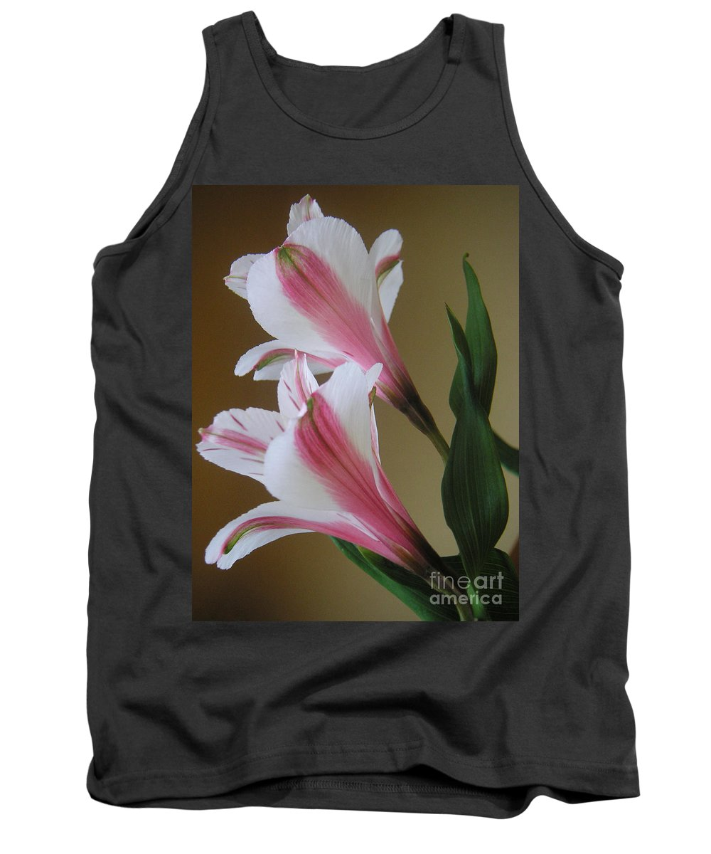 Nature Tank Top featuring the photograph Alstroemerias - Doubled by Lucyna A M Green