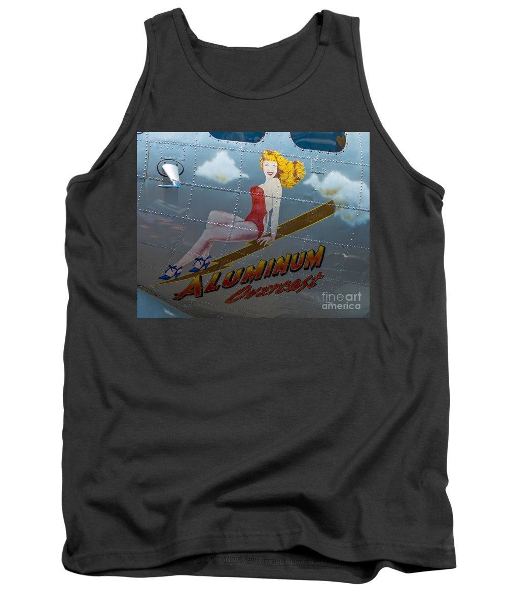 Nose Art Tank Top featuring the photograph Aluminum Overcast by Stephen Whalen