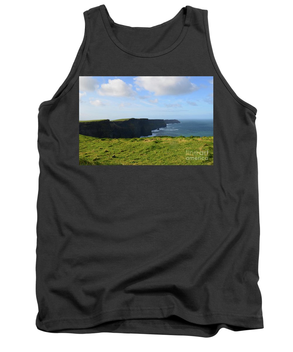 Cliffs-of-moher Tank Top featuring the photograph Amazing Views Of The Cliff's Of Moher In Ireland by DejaVu Designs