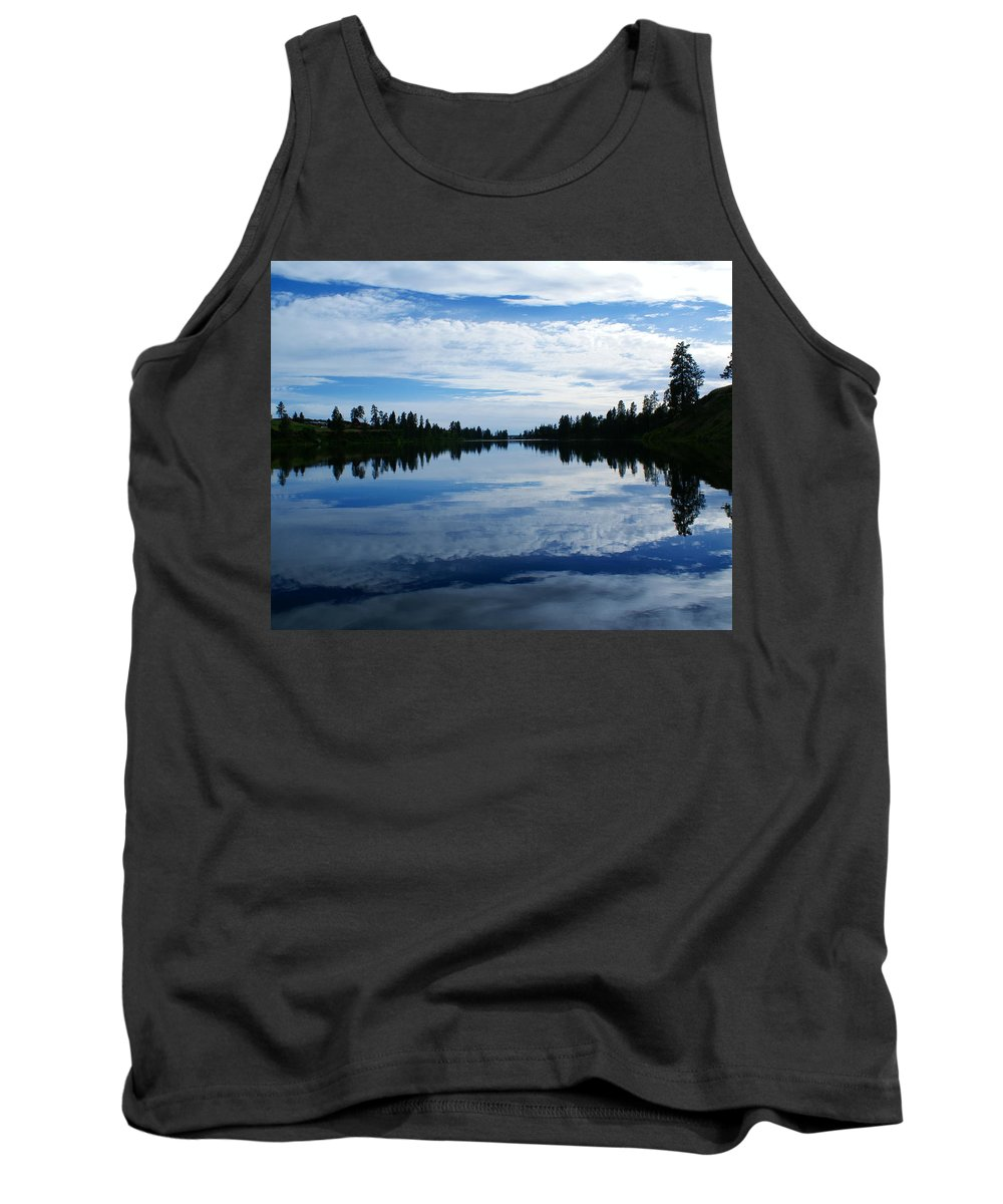 Nature Tank Top featuring the photograph Amber Dusk by Ben Upham III