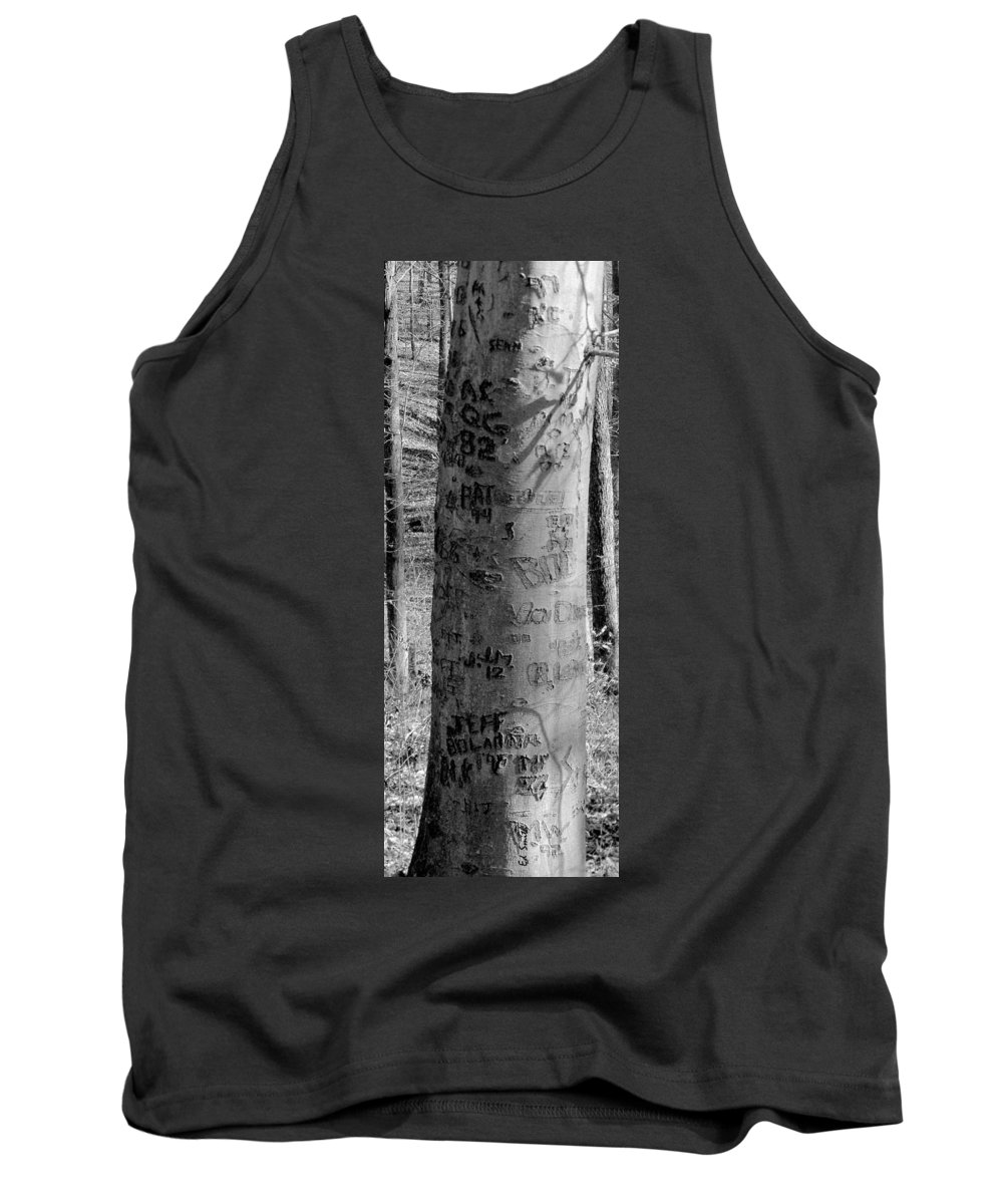 American Tank Top featuring the photograph American Graffiti 5 Tattoos For Trees by Ed Smith