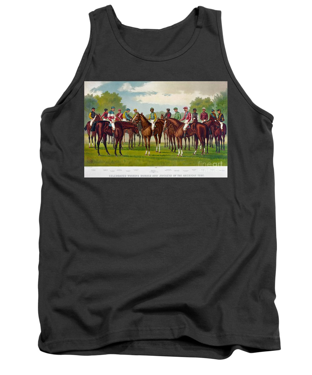1889 Tank Top featuring the photograph American Jockeys, 1889 by Granger