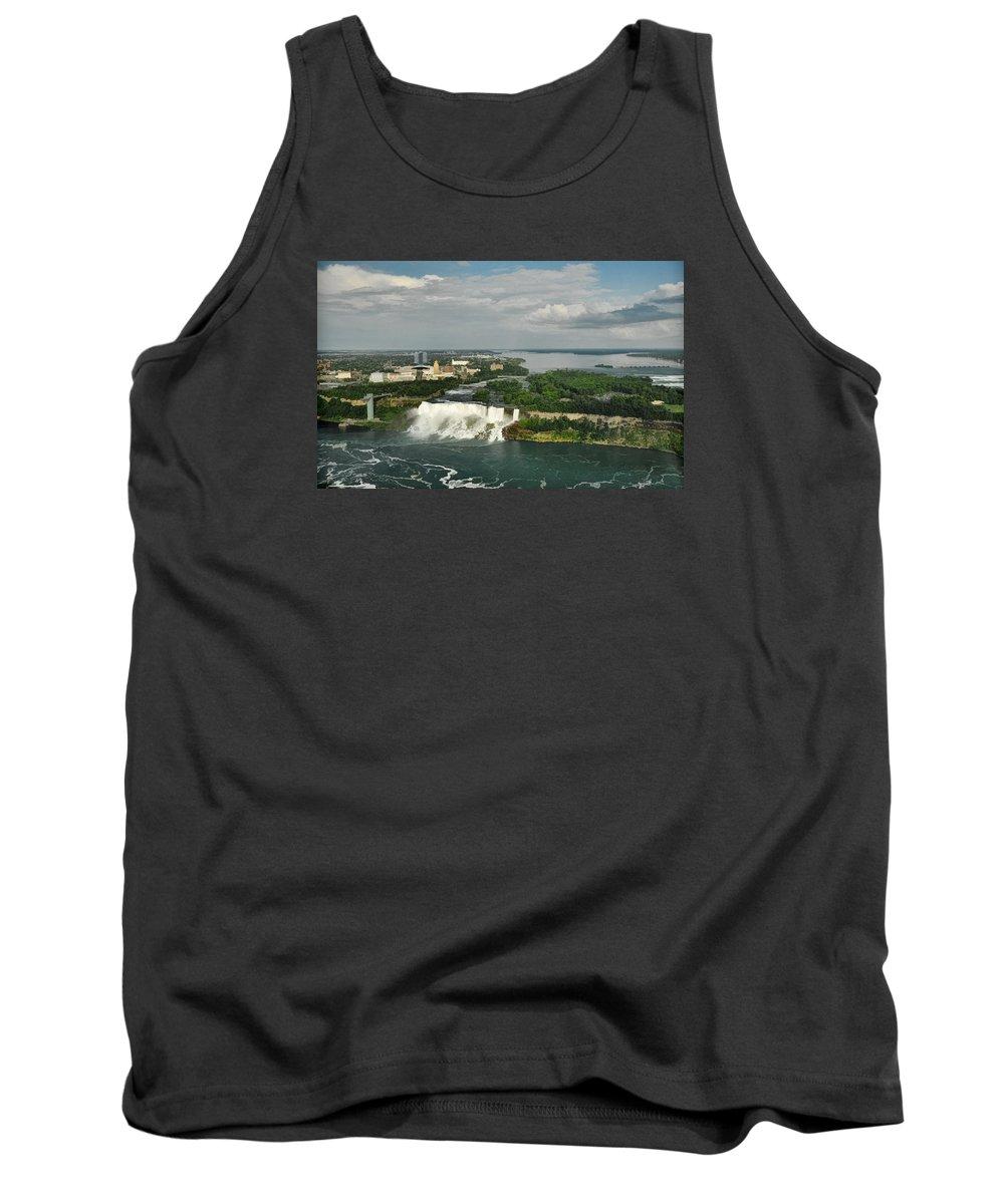 American Niagara Falls Tank Top featuring the photograph American Niagara Falls #2 by Ginger Wakem