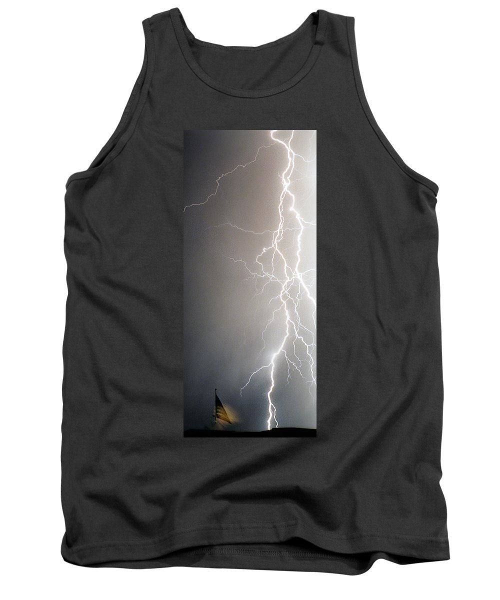 Usa Tank Top featuring the photograph American Storm by James BO Insogna