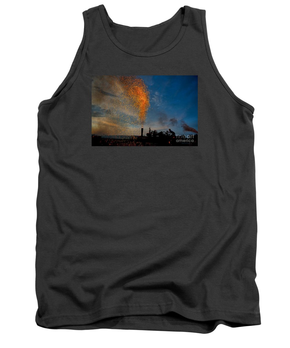 Amish Tank Top featuring the photograph Amish Fireworks by David Arment