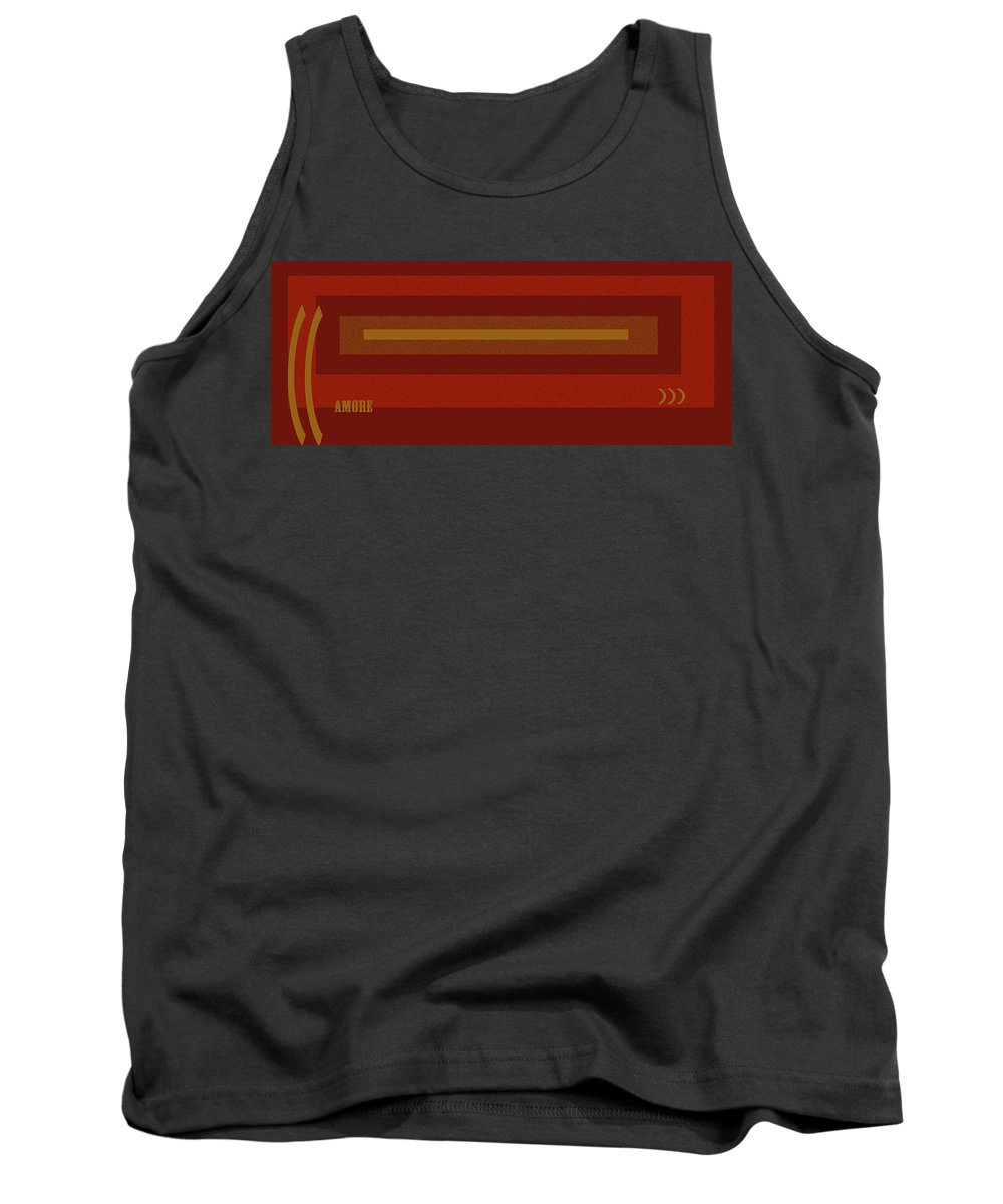 Amore Tank Top featuring the digital art Amore Red by Anne Cameron Cutri