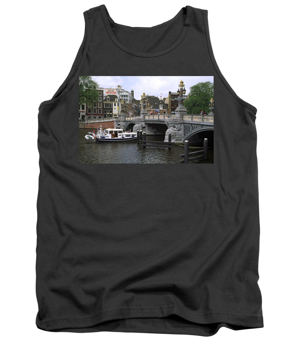 City Scene Tank Top featuring the photograph Amsterdam Scene by Sally Weigand
