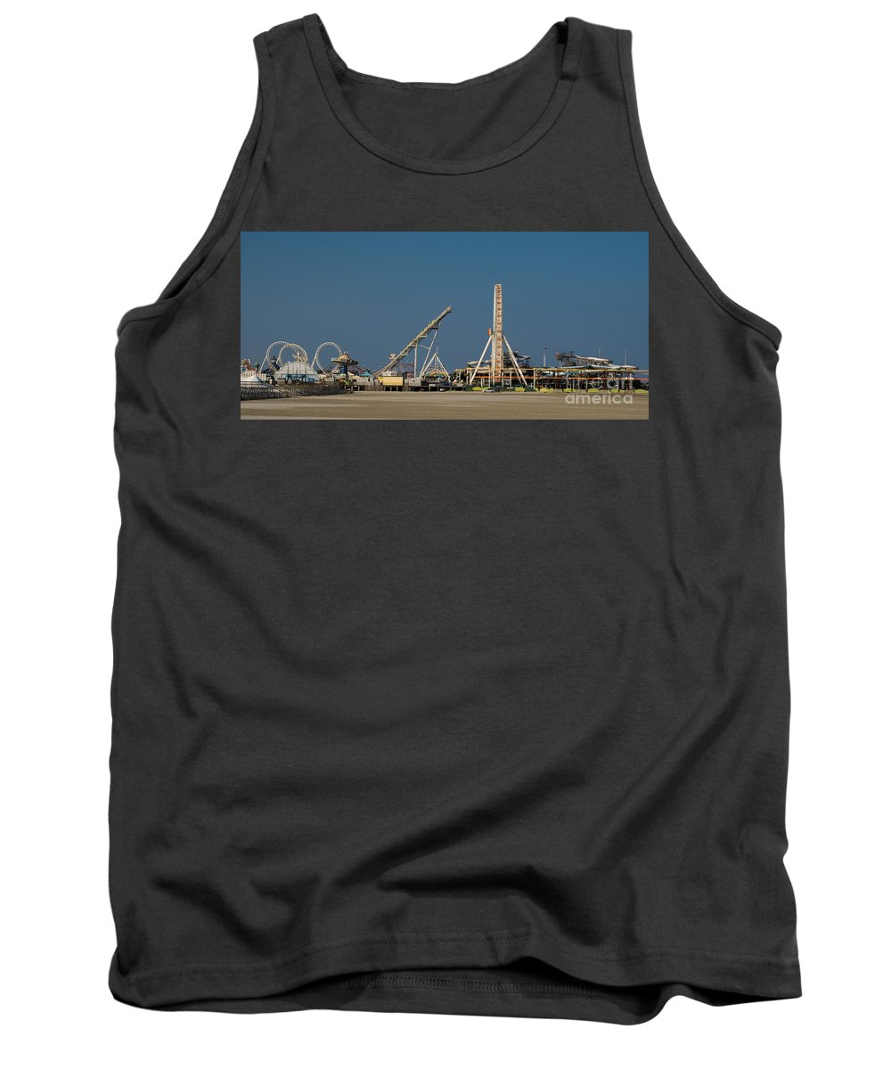 Fun Tank Top featuring the photograph Amusement Pier And Waterpark by Anthony Totah