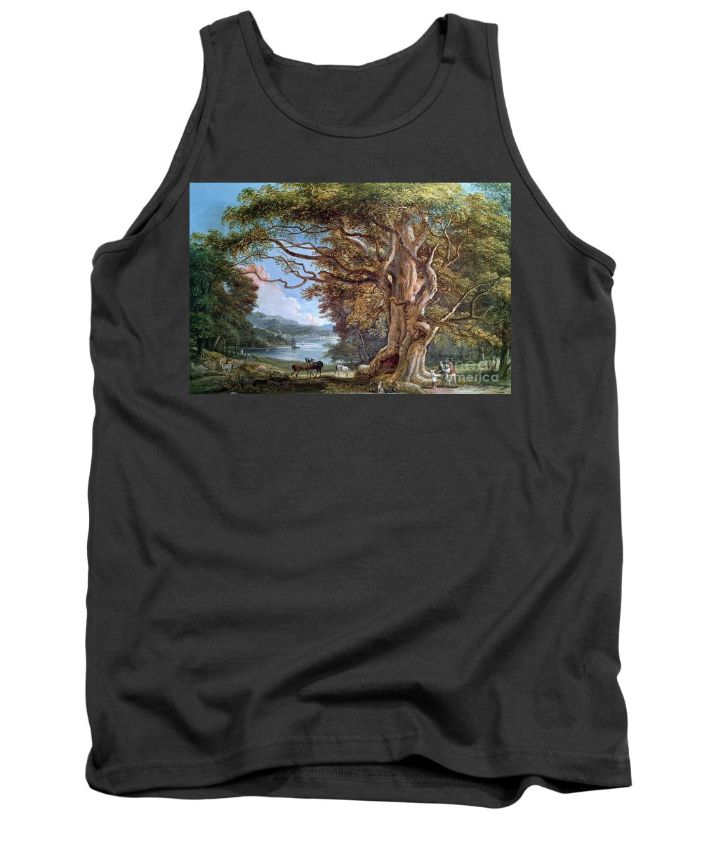 Ancient Tank Top featuring the painting An Ancient Beech Tree by Paul Sandby
