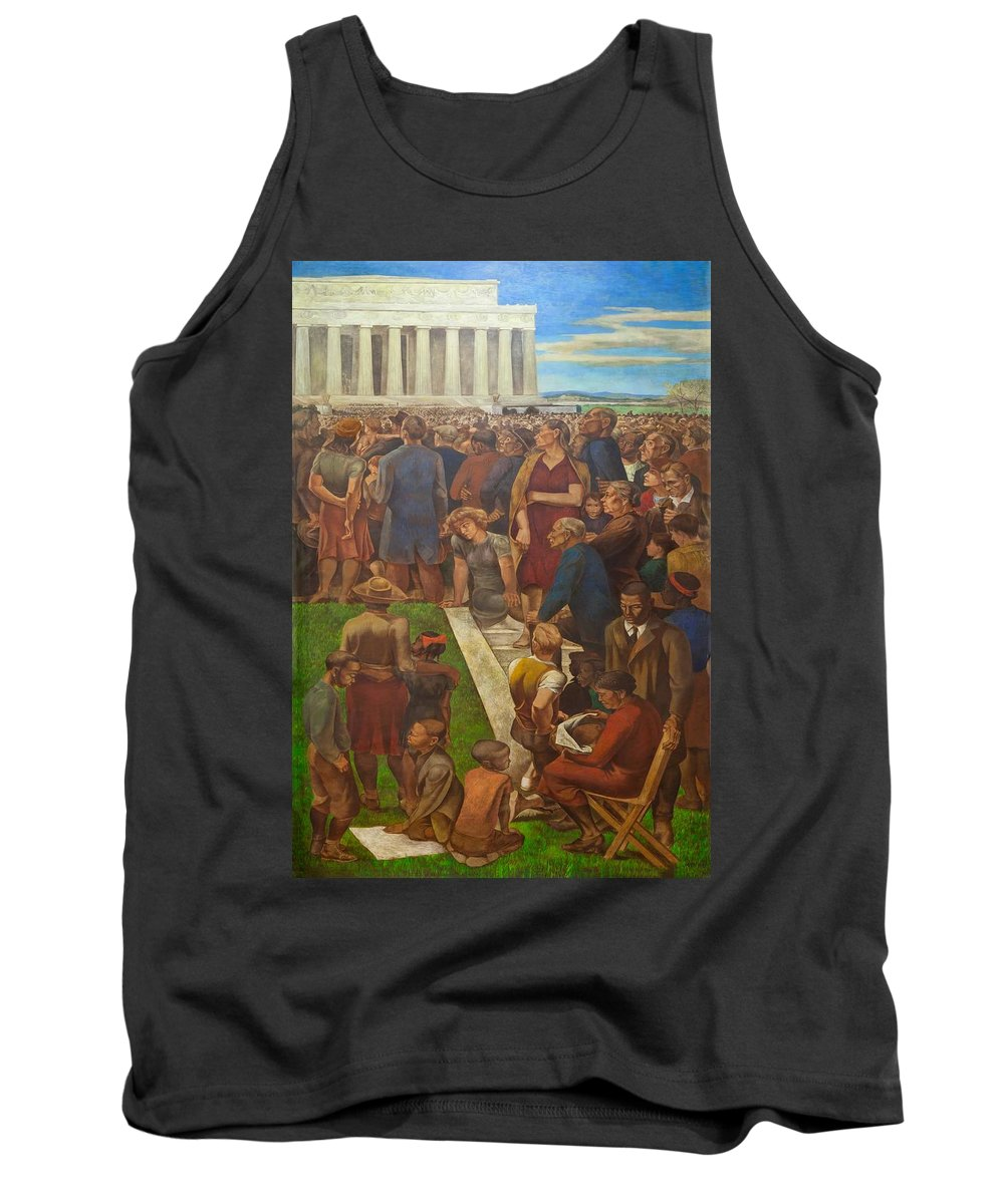 Painting Tank Top featuring the painting An Incident In Contemporary American Life by Mountain Dreams