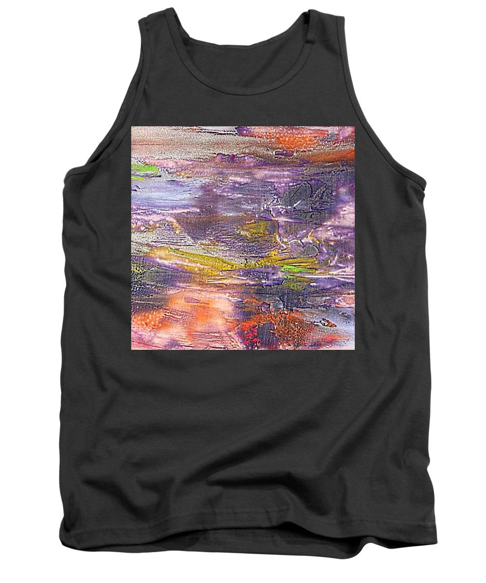 Old Board Tank Top featuring the painting An Old Board by Dragica Micki Fortuna