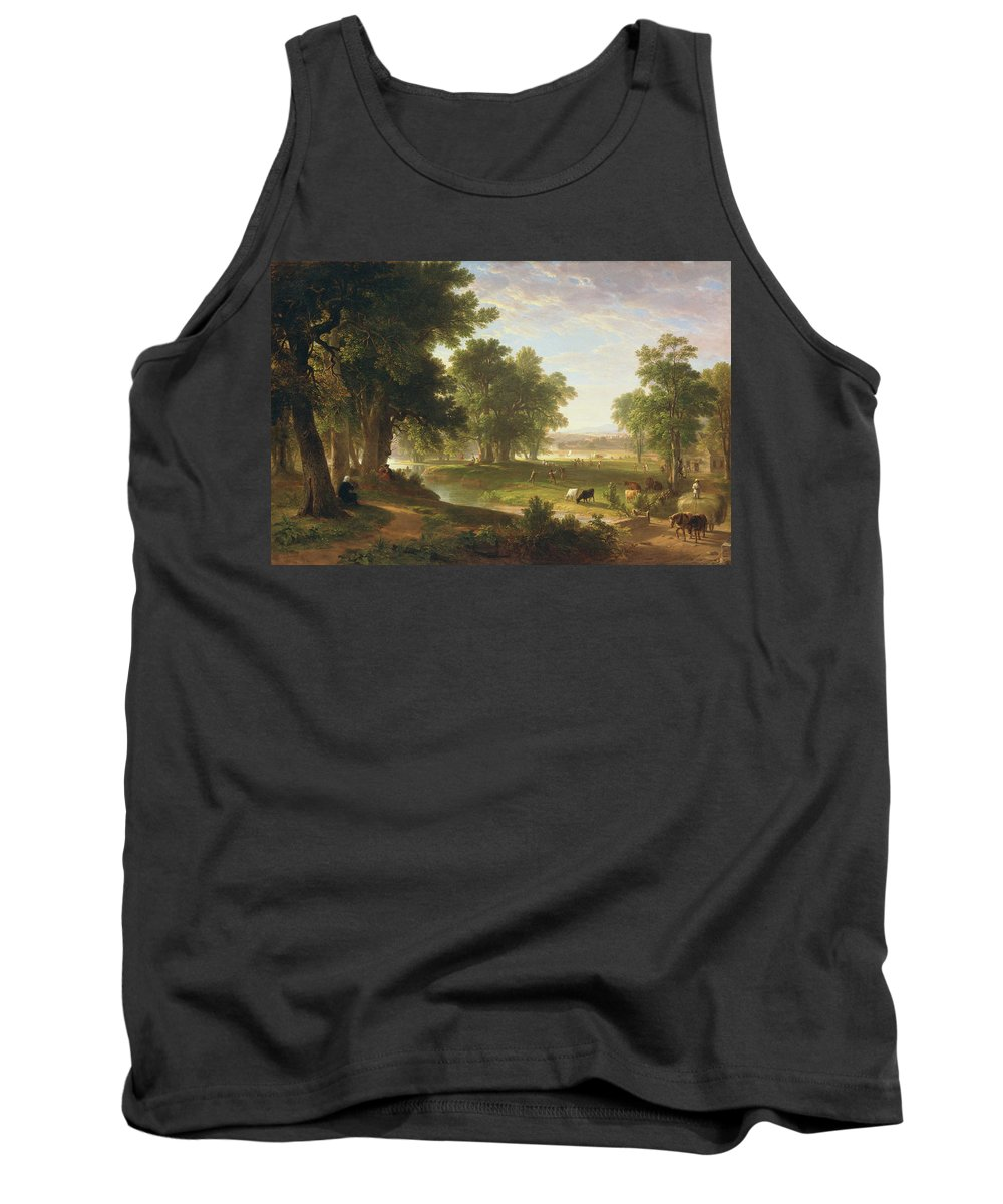 An Old Man�s Reminiscences Tank Top featuring the painting An Old Man Reminiscences by MotionAge Designs